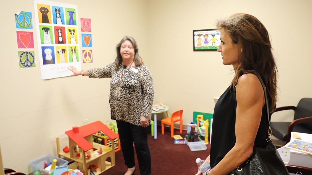 Silent Tears staff visiting Dickerson Child Advocacy Center
