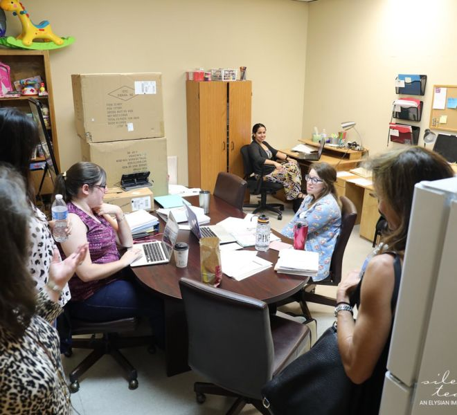Silent Tears staff visiting office at Dickerson Child Advocacy Center
