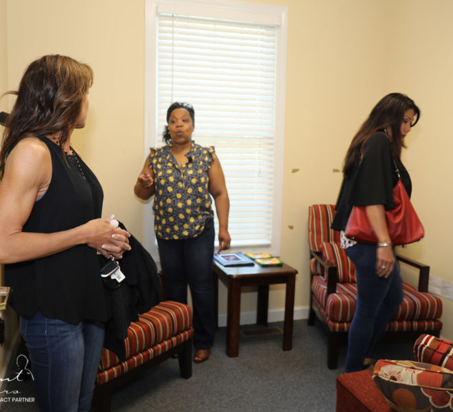 The Family Resource Center- staff giving tour around facility