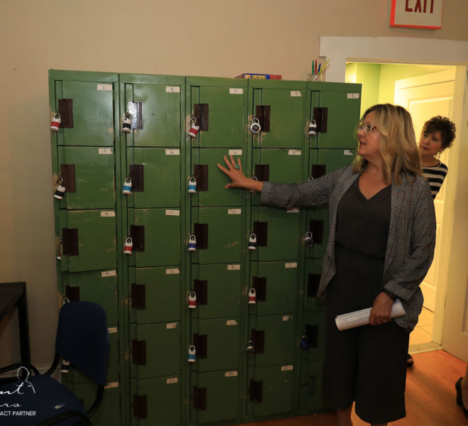 SAFE Harbor- staff discussing about lockers