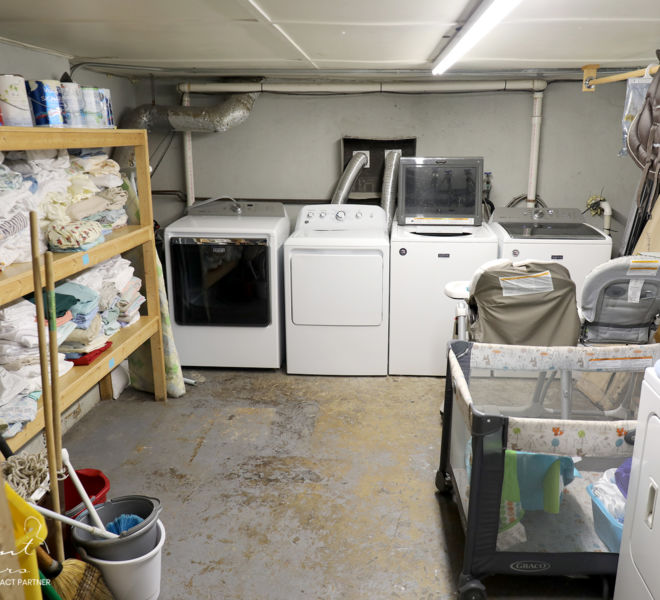 My Sister's House- Laundry room and storage