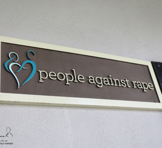 People Against Rape- sign